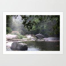 Raining in Geochang Art Print