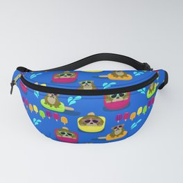 Bulldog Popsicle Pool Party Fanny Pack