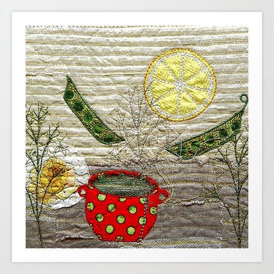 Lemon Landscape Art Print
