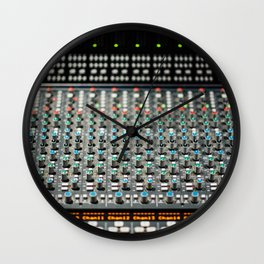Colorful Analog Turning Knobs with Lights Wall Clock