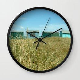 Beach Huts Relaxation Wall Clock