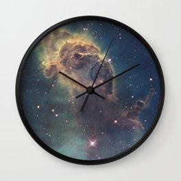 Stars and gas nebula in Universe Wall Clock