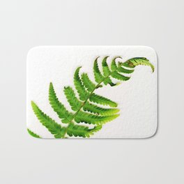 Fern on white Bath Mat