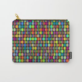 Colorful neon oval squares Carry-All Pouch