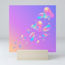 Holographic lava Mini Art Print