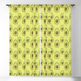 Lime Green Avocado Pattern Blackout Curtain