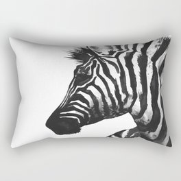 Zebra head - watercolor art Rectangular Pillow