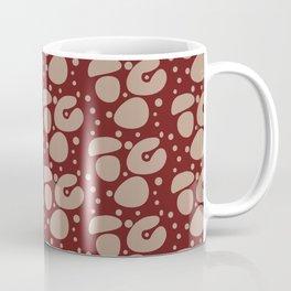 Red Shapes Pattern Background Coffee Mug
