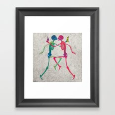 Skeleton Crush with Banana n Gun Framed Art Print
