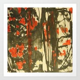 Rojo y negro Art Print