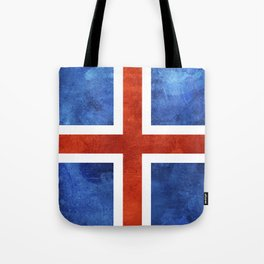 Icelandic Flag Tote Bag