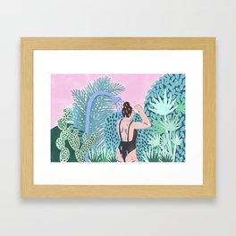 Jungle Babe Illustration Framed Art Print