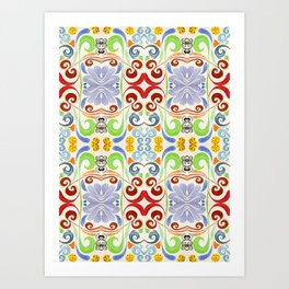 Yellow Dotted Eggs  Art Print