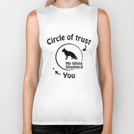 Circle of trust my White Shepherd Biker Tank