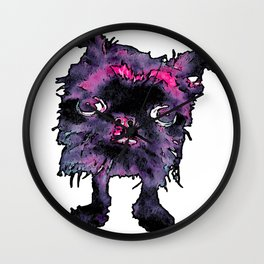 Lugga The Friendly Hairball Monster For Ghouls Wall Clock