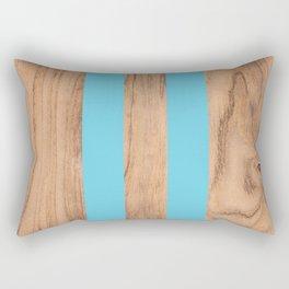 Wood Grain Stripes - Light Blue #807 Rectangular Pillow