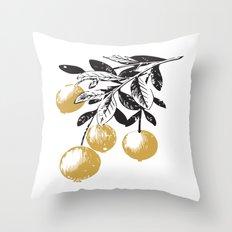 Golden Berries Throw Pillow