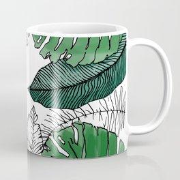 Tropical banana and leaves Coffee Mug