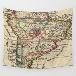 Vintage Map of South America (1747) Wall Tapestry