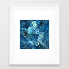 Labradorite Blue Framed Art Print