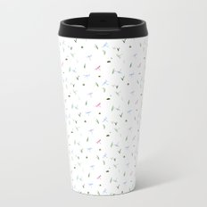 dragonfly subtle pattern Metal Travel Mug
