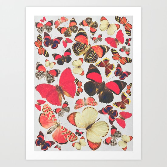 Come with me butterflies. Art Print