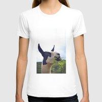 llama T-shirts featuring Llama by Jimmy Duarte