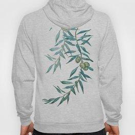 green olive leaf watercolor Hoody