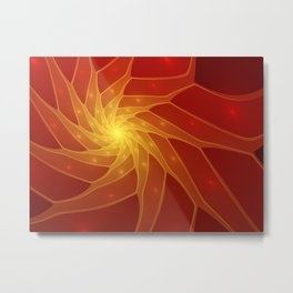 Illuminated, Abstract Fractal Art Graphic Metal Print
