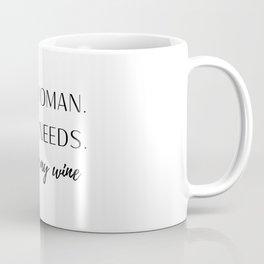 Woman with Needs Coffee Mug