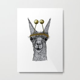 lama christmas Metal Print