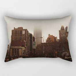 Foggy Empire State Building Rectangular Pillow