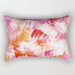 Abstract Paint Pattern Rectangular Pillow