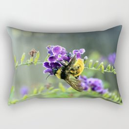 Bee in Purple Duranta Art Photography, Summer's End Rectangular Pillow