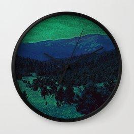 The Sleeping Mountains Wall Clock