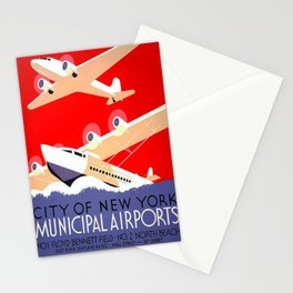 Werbeposter City of New York Municipal Airports Stationery Cards