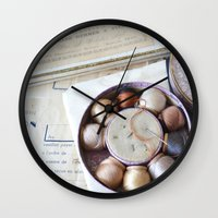 sewing Wall Clocks featuring Vintage Sewing by KarenHarveyCox