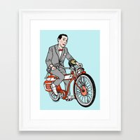 pee wee Framed Art Prints featuring Pee Wee Herman by Michael Scarano