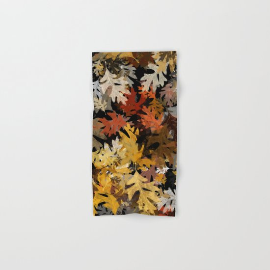 Oak Leaf Abstract Hand & Bath Towel