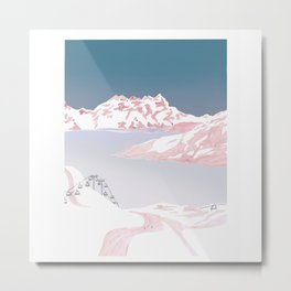 Mountain Love Slopes Metal Print