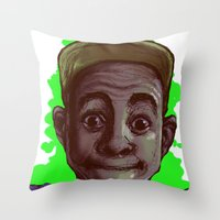 tyler the creator Throw Pillows featuring Tyler The Creator II (Green) by ASHUR Collective™