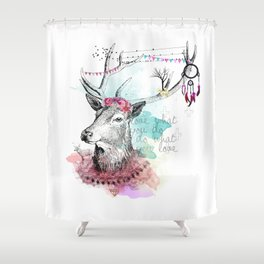 Love what you are Shower Curtain