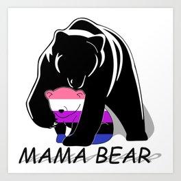 Mama Bear Genderfluid Art Print