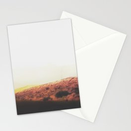 Abstract Modern Desert Mountain Landscape  Stationery Cards