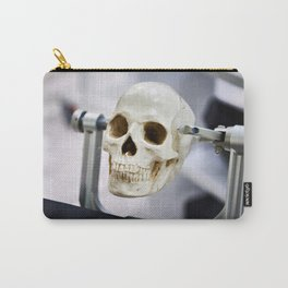 Human skull model in clamps for education Carry-All Pouch