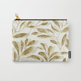 Gold Leaves Branches Carry-All Pouch