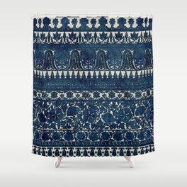 Indigo flower Shower Curtain