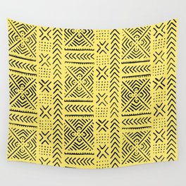 Line Mud Cloth // Yellow Wall Tapestry