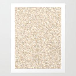 Spacey Melange - White and Tan Brown Art Print