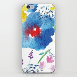 Florals in Watercolor iPhone Skin